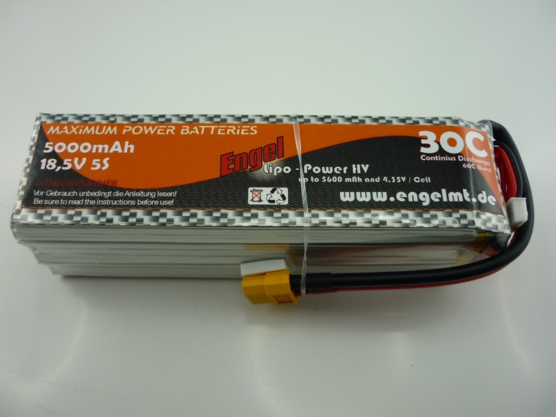 Engel-HV-Lipo-Power 5000mAh/5S 18,5V, 30/60C